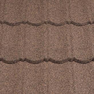 Композитная черепица Metrotile 1330x410 мм coffee
