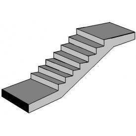 Лестничный марш с площадками ЛМП 57 1150x4475 мм