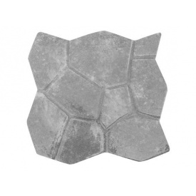 Плита на дорожку Черепаха 500*500*46 мм серая