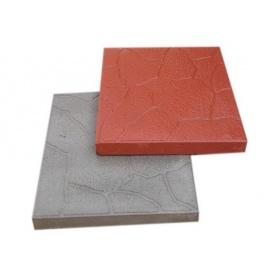 Вибролитая тротуарная плитка Камуфляж 300*300*30 мм красная