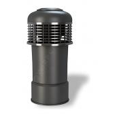 Колпак для вентиляционного выхода Wirplast Alfawent К14 150x410 мм черный RAL 9005