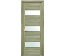 Дверное полотно Лилу со стеклом сатин сандал экошпон