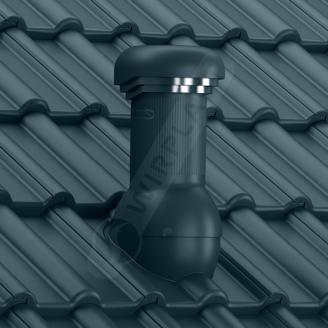 Вентиляційний вихід Wirplast Wirovent Tile W17 Pro 125x440 мм графітовий RAL 7024