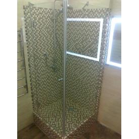 Скляна душова кабіна у маленькій ванній 8 мм