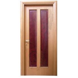 Двери из ольхи DerevBud темные с стеклом 42х700х1900 мм
