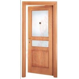Двери из ольхи DerevBud светлые с фрамугой 42х800х1900 мм