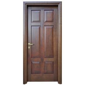 Двери из ольхи DerevBud темные с квадратами 42х800х1900 мм