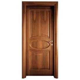 Двері з вільхи DerevBud темні з візерунком 42х900х1900 мм