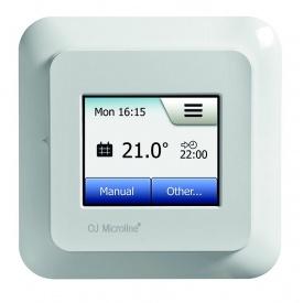Сенсорный терморегулятор для теплого пола OJ OCD5–1999 82х82х40 мм белый