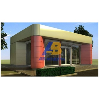 Строительство офиса продаж 40 м2