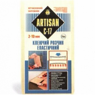 Клеящая смесь Артисан С-17 эластичная 25кг