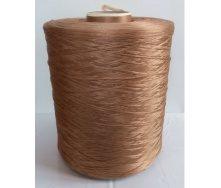 Нитка для оверлока килимової доріжки світло-коричнева