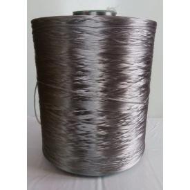 Нить для коврового оверлока металлик темно-серый