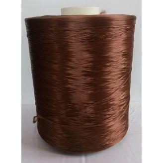 Нитка для килимового оверлока коричневий металік