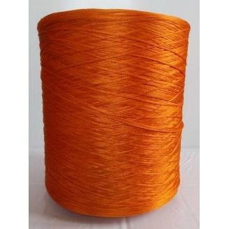 Нить для оверлока дорожки металлик оранжевый