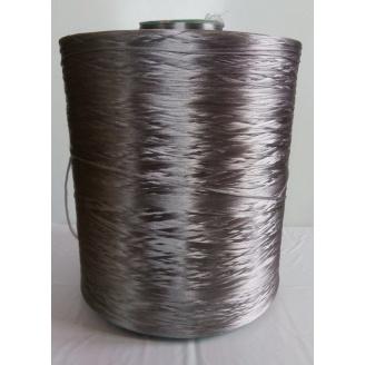Нитка для килимового оверлока металік темно-сірий