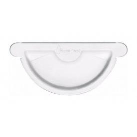 Заглушка жолобу Акведук Стандарт 125 мм білий RAL 9003