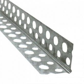 Угол перфорированный алюминиевый рифленый 23х23х3000 мм