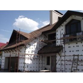 Утепление фасада пенопластом мокрым способом