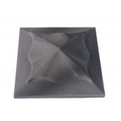 Кришка ковпак для забору  Медуза сіра 450х450 мм