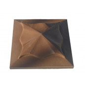 Крышка колпак для забора Медуза коричневая 450х450 мм