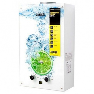 Газовый водонагреватель Zanussi GWH 10 Fonte Glass Lime 18,5мкВт