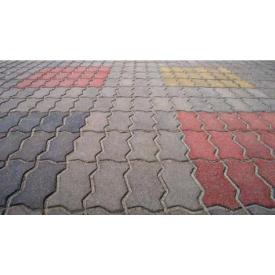 Тротуарная плитка Змейка Элит 30 мм серая
