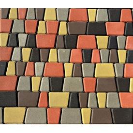 Тротуарная плитка Римский камень Стандарт 30 мм серая
