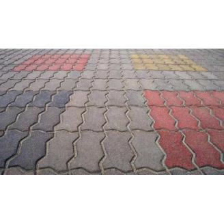 Тротуарна плитка Змійка Еліт 30 мм сіра