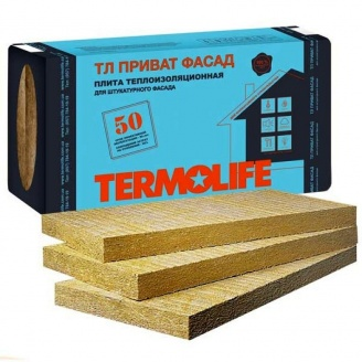 Минеральная вата TERMOLIFE Приват Фасад 115 кг/м3 1000х600х100 мм