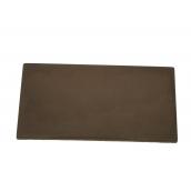 Цокольная накрывка на забор 150х400 мм коричневая