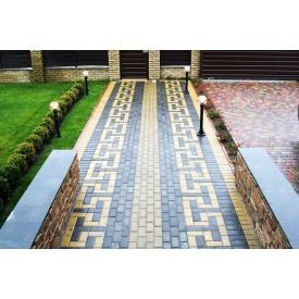Тротуарная плитка Кирпич Стандарт 30 мм серый