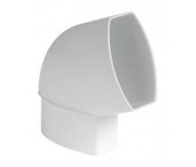 Отвод по плоскости стены Nicoll 28 OVATION 60° 80 мм белый