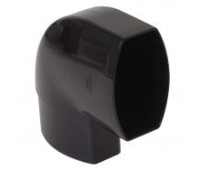 Отвод по плоскости стены Nicoll 28 OVATION 90° 80 мм черный