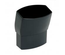 Отвод Nicoll 28 OVATION 15° 80 мм темно-серый