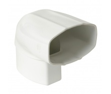 Отвод Nicoll 28 OVATION 90° 80 мм белый