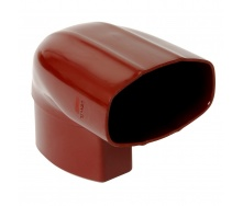 Отвод Nicoll 28 OVATION 90° 80 мм красный