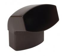 Отвод Nicoll 28 OVATION 67° 80 мм коричневый