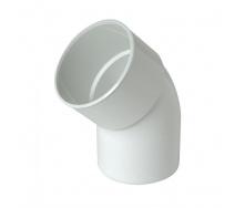 Отвод одномуфтовый Nicoll 45° белый