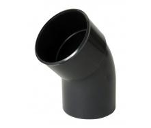Отвод одномуфтовый Nicoll 45° темно-серый