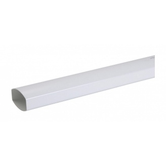 Труба водосточная Nicoll 28 OVATION 80 мм белый