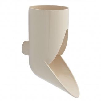 Отвод сливной декоративный Nicoll 29 VODALIS 100 мм бежевый