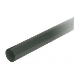 Труба водосточная с муфтой Nicoll 80 мм темно-серый