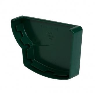 Заглушка желоба левая Nicoll 28 OVATION зеленый