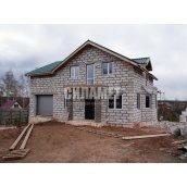 Будівництво будинку з газобетону і піноблоку 8х9 м
