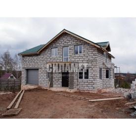 Строительство дома из газоблока и пеноблока 8х9 м