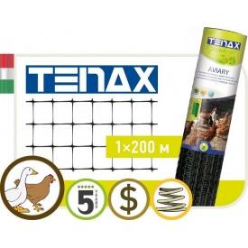 Полімерна сітка TENAX Авіарі 1х200 м чорна