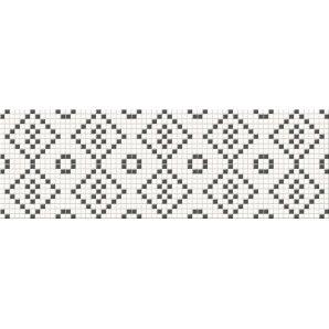 Плитка Opoczno Pret a Porter black&white mosaic 25x75 см
