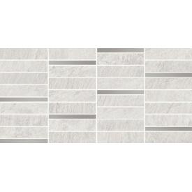Плитка Opoczno Yakara white mosaic steel 22,2x44,6 см
