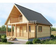 Проект будинку з мансардним поверхом З-29 8х6 м